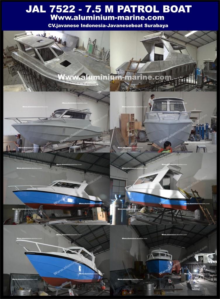 Proses produksi JAL 7522 ALuminium Boat